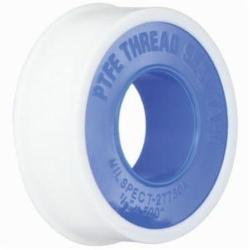 "1"" x 520"" 3.5 Mil Thk White Ind'l PTFE Thread Tape"