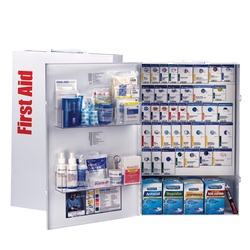 2XL METAL FOOD SERVICE FIRST AID w/ MEDS