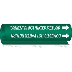 """DOMESTIC HOT WATER RETURN"" PIPE MARKER"