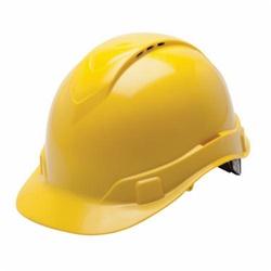 YEL RIDGELINE VENT CAP STYLE HARD HAT