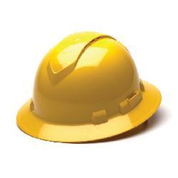 YEL RIDGELINE VENT FULL BRIM HARD HAT